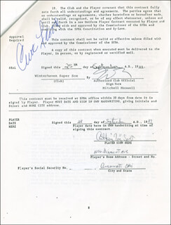 CURT FLOOD - CONTRACT SIGNED 09/25/1989 CO-SIGNED BY: ANTHONY TONY SCOTT