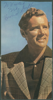 HOWARD DUFF - INSCRIBED MAGAZINE PHOTO SIGNED