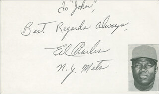 ED CHARLES - AUTOGRAPH NOTE SIGNED