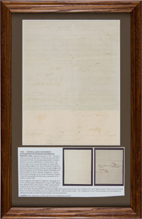 LT. GENERAL JAMES LEE'S WAR HORSE LONGSTREET - AUTOGRAPH DOCUMENT SIGNED THREE TIMES 05/05/1863