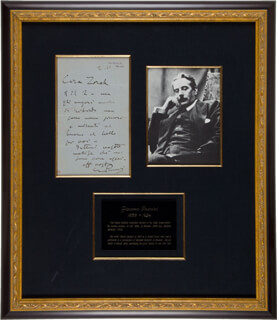 GIACOMO PUCCINI - AUTOGRAPH LETTER SIGNED 01/02/1910
