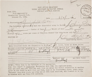 CHARLES A. LINDBERGH - CONTRACT SIGNED 06/02/1926