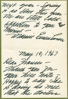 FIRST LADY MAMIE DOUD EISENHOWER - AUTOGRAPH LETTER SIGNED 05/18/1967