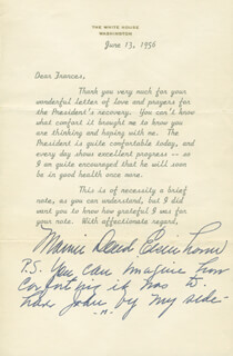 FIRST LADY MAMIE DOUD EISENHOWER - TYPED LETTER SIGNED 06/13/1956