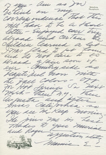 FIRST LADY MAMIE DOUD EISENHOWER - AUTOGRAPH LETTER SIGNED 10/13/1962