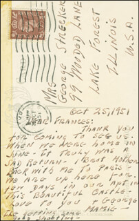 FIRST LADY MAMIE DOUD EISENHOWER - AUTOGRAPH LETTER SIGNED 10/25/1951