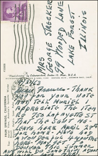 FIRST LADY MAMIE DOUD EISENHOWER - AUTOGRAPH LETTER SIGNED 04/21/1963
