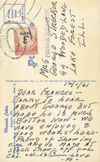 FIRST LADY MAMIE DOUD EISENHOWER - AUTOGRAPH LETTER SIGNED 12/01/1961