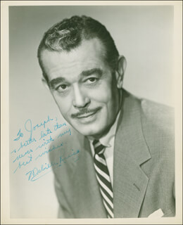 MELVILLE HUGHES RUICK - AUTOGRAPHED INSCRIBED PHOTOGRAPH