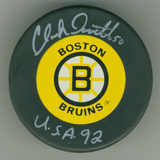 CLARK DONATELLI - HOCKEY PUCK SIGNED