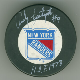 ANDY BATHGATE - HOCKEY PUCK SIGNED