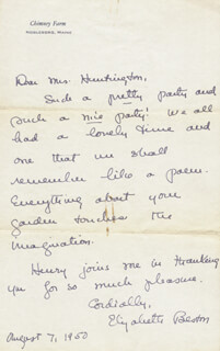 ELIZABETH COATSWORTH BESTON - AUTOGRAPH LETTER SIGNED 08/07/1950