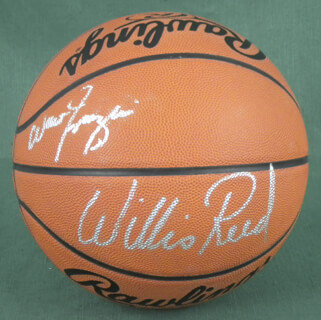 NEW YORK KNICKS - BASKETBALL SIGNED CO-SIGNED BY: WALT CLYDE FRAZIER, WILLIS REED