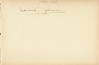 EDWARD P. JOHNSON - AUTOGRAPH