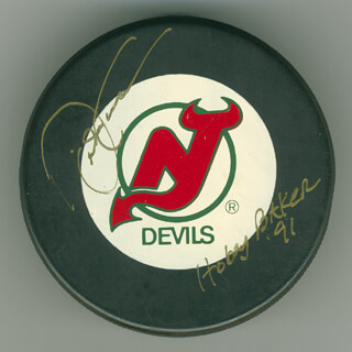 DAVID EMMA - HOCKEY PUCK SIGNED