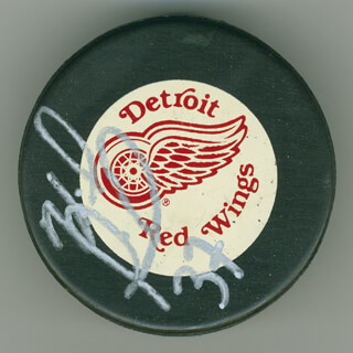 DOUG JANIK - HOCKEY PUCK SIGNED