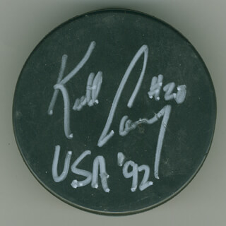 KEITH CARNEY - HOCKEY PUCK SIGNED