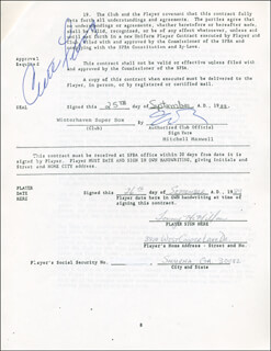 CURT FLOOD - CONTRACT SIGNED 09/25/1989 CO-SIGNED BY: TOMMY MCMILLAN