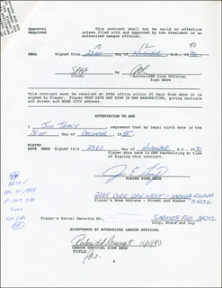 JIM TRACY - CONTRACT SIGNED 12/10/1990
