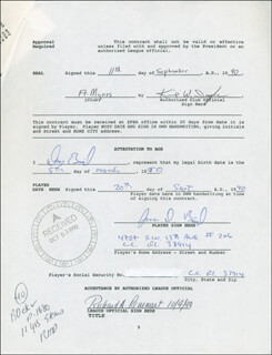 DOUG BIRD - CONTRACT MULTI-SIGNED 09/20/1990