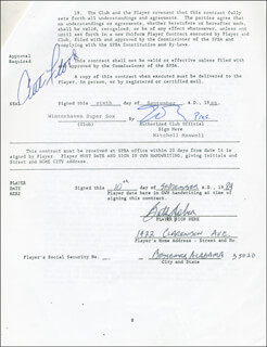 CURT FLOOD - CONTRACT SIGNED 09/16/1989 CO-SIGNED BY: BUTCH HOBSON
