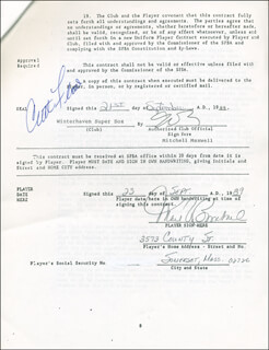 CURT FLOOD - CONTRACT SIGNED 09/23/1989 CO-SIGNED BY: MARK BOMBACK