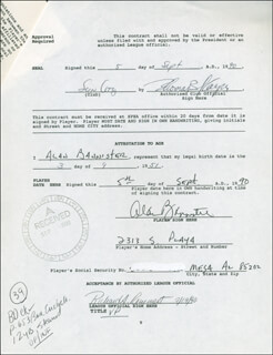 ALAN BANNISTER - CONTRACT SIGNED 09/05/1990