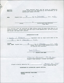 MIKE COSGROVE - CONTRACT SIGNED 12/07/1990