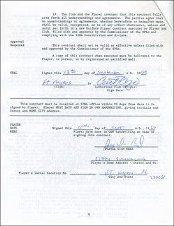 DOUG BIRD - CONTRACT SIGNED 09/13/1989