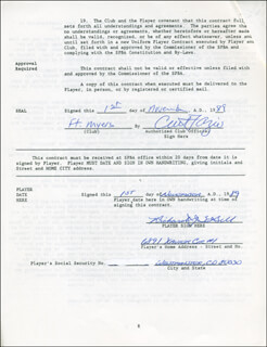 RICK SABELL - CONTRACT SIGNED 11/01/1989