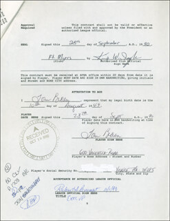 TOM HANDSOME BROWN - CONTRACT MULTI-SIGNED 09/28/1990
