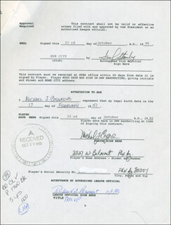 MIKE COSGROVE - CONTRACT MULTI-SIGNED 10/23/1990