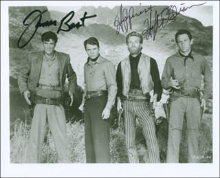 THE CIMARRON KID MOVIE CAST - AUTOGRAPHED SIGNED PHOTOGRAPH CO-SIGNED BY: HUGH O'BRIAN, JAMES BEST