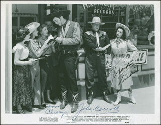 HIT PARADE OF 1951 MOVIE CAST - AUTOGRAPHED SIGNED PHOTOGRAPH CO-SIGNED BY: FRANK FONTAINE, JOHN CARROLL