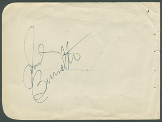 SMILEY (LESTER) BURNETTE - AUTOGRAPH CO-SIGNED BY: VAN JOHNSON - HFSID 295631
