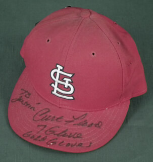 CURT FLOOD - HAT SIGNED