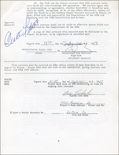 CURT FLOOD - CONTRACT SIGNED 09/25/1989 CO-SIGNED BY: GENE RICHARDS