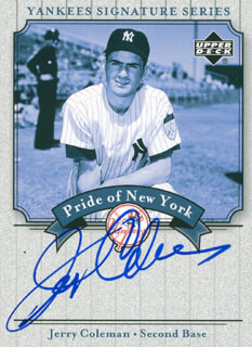 JERRY COLEMAN - TRADING/SPORTS CARD SIGNED