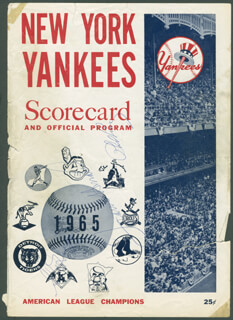 Autographs: GIL HODGES - PROGRAM COVER SIGNED CO-SIGNED BY: FRANK HONDO HOWARD, PHIL SUPERSUB LINZ
