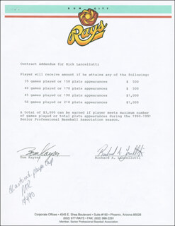 RICHARD RICK LANCELLOTTI - CONTRACT SIGNED