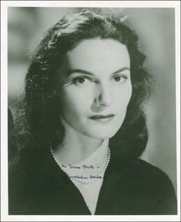 MARIAN SELDES - AUTOGRAPHED INSCRIBED PHOTOGRAPH