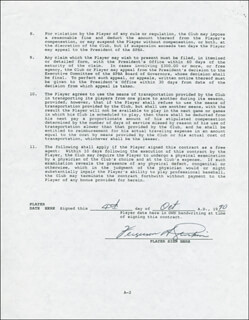 FERGUSON JENKINS - CONTRACT DOUBLE SIGNED 10/04/1990