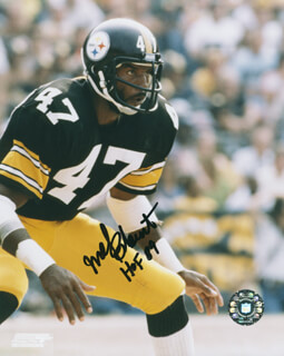Autographs: MEL BLOUNT - PHOTOGRAPH SIGNED