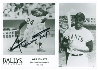 WILLIE SAY HEY KID MAYS - ADVERTISEMENT SIGNED