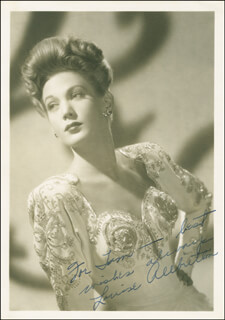 LOUISE ALLBRITTON - AUTOGRAPHED INSCRIBED PHOTOGRAPH