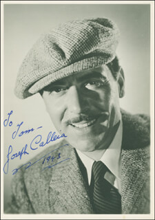 JOSEPH CALLEIA - AUTOGRAPHED INSCRIBED PHOTOGRAPH 1943