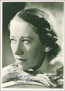 DAME FLORA ROBSON - AUTOGRAPHED INSCRIBED PHOTOGRAPH