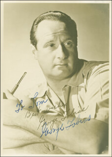 GEORGE TOBIAS - AUTOGRAPHED INSCRIBED PHOTOGRAPH