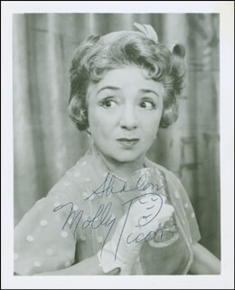 MOLLY PICON - AUTOGRAPHED SIGNED PHOTOGRAPH