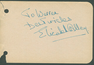 ELIZABETH ASHLEY - AUTOGRAPH NOTE SIGNED